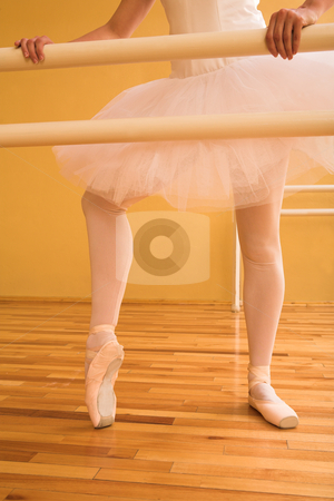 Ballerina #06 stock photo, Lady doing ballet in a dance studio. by Sean Nel