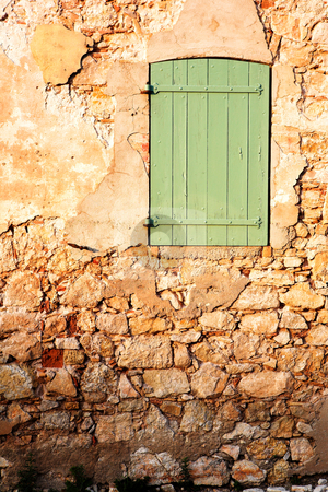 Isledemarguerite #23 stock photo, An old locked window in the famous Ile Sainte Marguerite  by Sean Nel