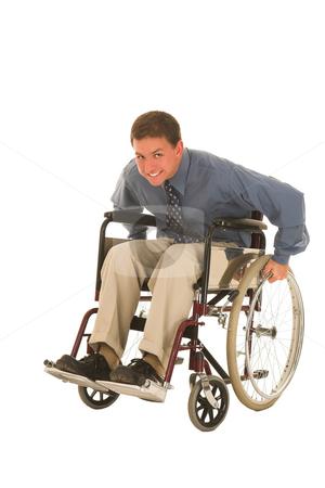 Businessman #120 stock photo, Man sitting in wheelchair. by Sean Nel