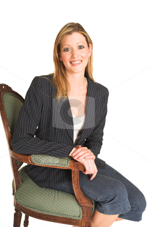 Laura Hopton #35 stock photo, Business woman on  chair by Sean Nel