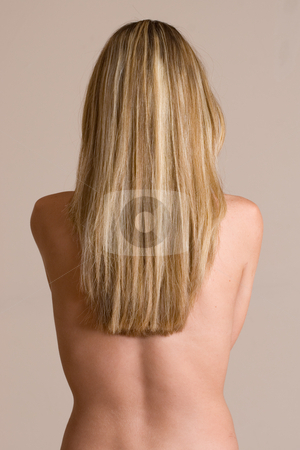 Cdtorso #2 stock photo, Naked blonde woman from behind - arms hidden by Sean Nel
