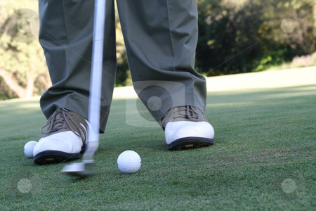 On the green stock photo, Putting the ball by Sean Nel