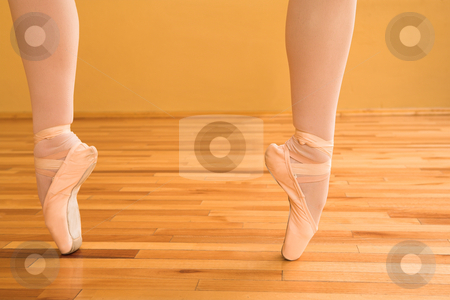 Ballerina #07 stock photo, Lady doing ballet in a dance studio. by Sean Nel