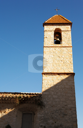 Tower of a building in St Paul stock photo, Tower of a building in a small village of St Paul, France by Sean Nel