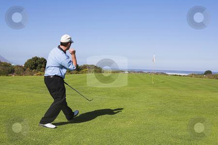 Golf #29 stock photo, Man playing golf. by Sean Nel