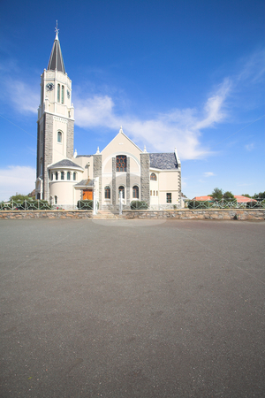 Church in Hanover stock photo, The original Dutch Reformed Church in Hanover, South Africa by Sean Nel