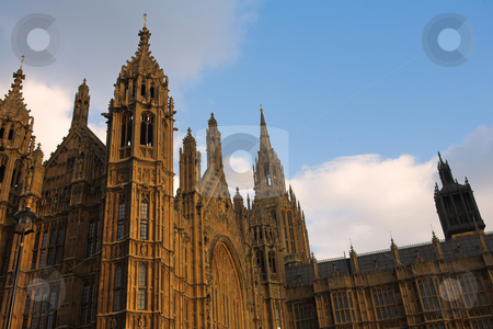 Westminster #7 stock photo, The buildings of the House of Parliament - sunset by Sean Nel