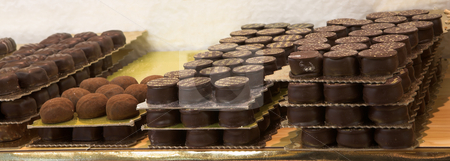 Pastry #25 stock photo, Chocolate trays in a French Patisserie and Chocolaterie by Sean Nel