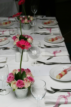 White and pink stock photo, White and pink tablesetting by Sean Nel