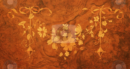 Wooden inlay stock photo, Wooden inlays on an old piano by Sean Nel