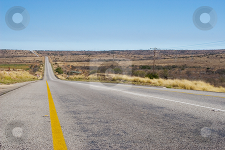 Cape roads #6 stock photo, Desolate road just outside Colesberg, South Africa by Sean Nel