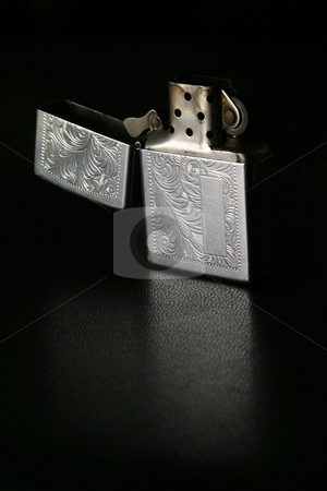 Unlit lighter stock photo, Open unlit silver lighter by Sean Nel