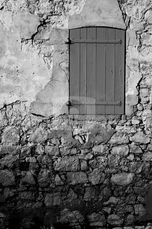 Isledemarguerite #24 stock photo, An old locked window in the famous Ile Sainte Marguerite  by Sean Nel