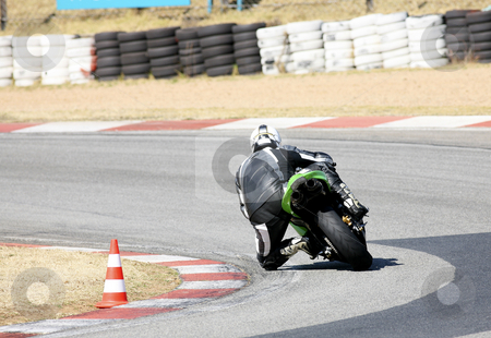 Superbike #89 stock photo, High speed Superbike on the circuit  by Sean Nel