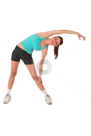 Gym #110 stock photo, Woman stretching. by Sean Nel