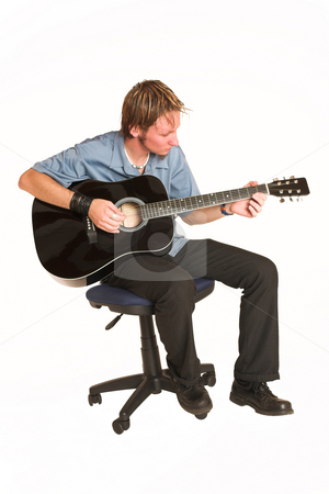 David Badenhorst #5 stock photo, Young man with guitar. by Sean Nel