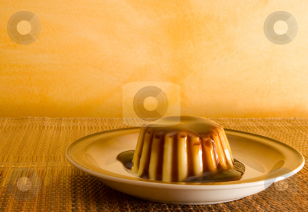 Pudding #2 stock photo, Creme Caramel Pudding - Copy space by Sean Nel