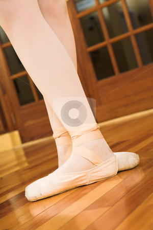 Pointe shoes #03 stock photo, Woman with pointe shoes - Ballet by Sean Nel