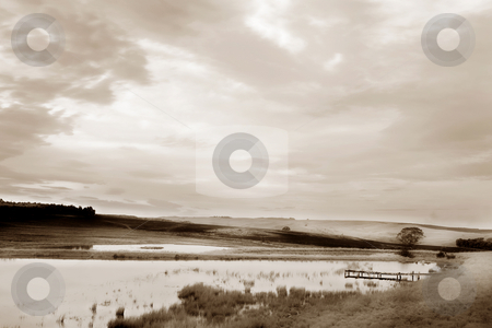 Flyfish #40 stock photo, Landscape of a fly-fishing dam by Sean Nel