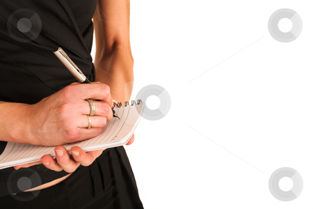 Businesswoman#371 stock photo, Business Woman, writing on notepad, close up on hands, copy space, blank by Sean Nel