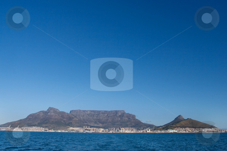 Mountain #1 stock photo, Table mountain and the VA waterfornt - Cape Town, South Africa by Sean Nel