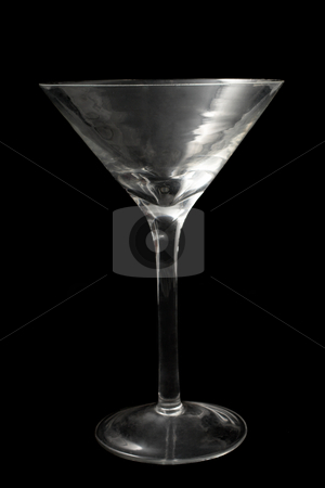 Glass #6 stock photo, Empty Martini glass on black background by Sean Nel