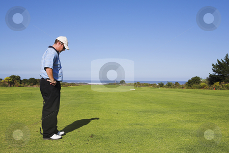Golf #24 stock photo, Man playing golf by Sean Nel