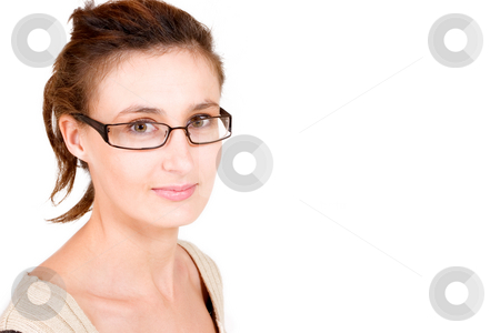 Business Lady #103 stock photo, Business woman with glasses by Sean Nel