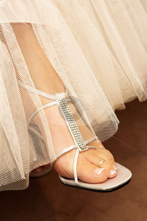 Wedding #34 stock photo, Close-up of bridal shoes.  Shallow D.O.F by Sean Nel