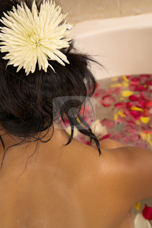 Woman #58 stock photo, Nude woman in a bath. by Sean Nel