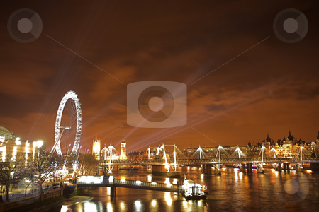 River Thames #1 stock photo, New years over the river Thames by Sean Nel