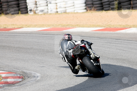 Superbike #1 stock photo, High speed Superbike on the circuit  by Sean Nel
