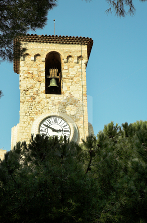 Cannes #30 stock photo, Clock tower on the La Tour Du Suquet in Cannes by Sean Nel