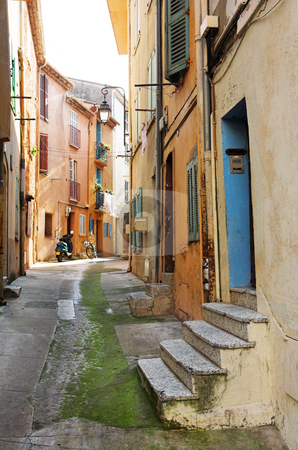 Street in Cannes stock photo, Street with old buildings in Cannes, France by Sean Nel