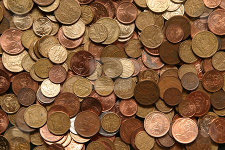 Coins stock photo, Heap of coins by Sean Nel