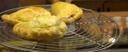 Pastry #16 stock photo, Glazed Meat Pie on a counter in a French Patisserie by Sean Nel