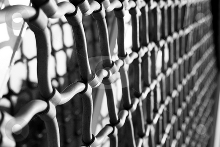 Cannes #11 stock photo, Security Grating - High Key, Grainy by Sean Nel