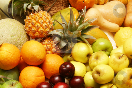 Citrus fruit stock photo, Platter of fruit by Sean Nel