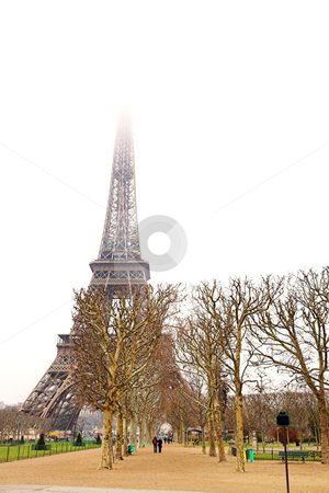 Paris #27 stock photo, The Eiffel Tower in Paris, France. Copy space. by Sean Nel
