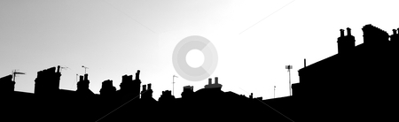 London Skyline #1 stock photo, Cutout of the London Skyline - Suburbs by Sean Nel