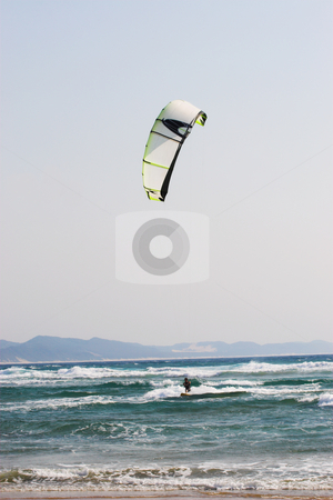 Sudwana #19 stock photo, A person kite surfing in Sudwana by Sean Nel