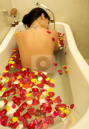 Woman #87 stock photo, Nude woman in a bath. by Sean Nel