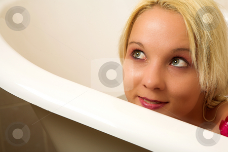Woman #184 stock photo, Woman in a bath. by Sean Nel