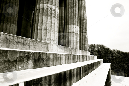 Regensburg18 stock photo, Pillars of Regensburg, Germany, Black and White, Black-and-white by Sean Nel
