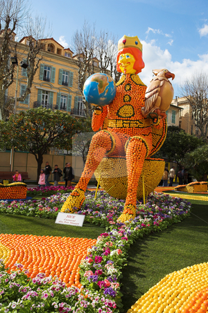 Menton #02 stock photo, The Citrus parade in Menton, France by Sean Nel