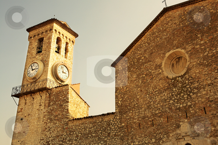 Cannes #34 stock photo, Clock tower on the La Tour Du Suquet in Cannes, France by Sean Nel