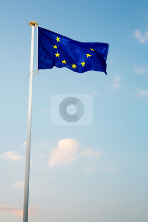 Cannes #61 stock photo, The blue European Union flag by Sean Nel