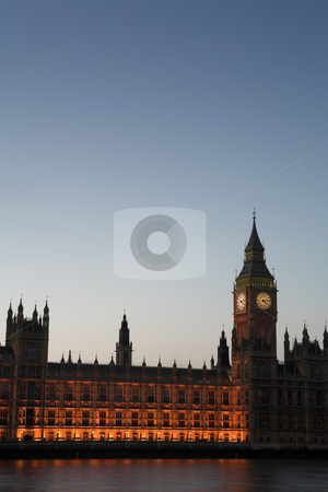 Big Ben #6 stock photo, Big Ben and the house of parliament just after sunset by Sean Nel
