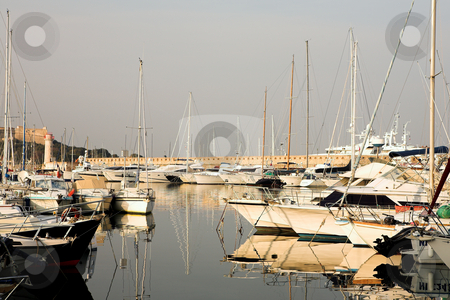 Antibes #280 stock photo, A harbor  in Antibes, France.    Copy space. by Sean Nel