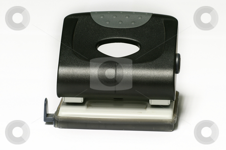 Hole punch stock photo, Black office punch by Sean Nel